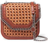 Stella McCartney The Falabella Box Wicker And Faux Leather Shoulder Bag - Tan