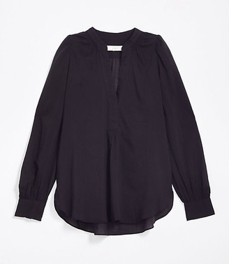 LOFT Petite Split Neck Tunic Shirt