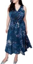Rachel Roy Plus Size Women's Tie Front Midi Dress