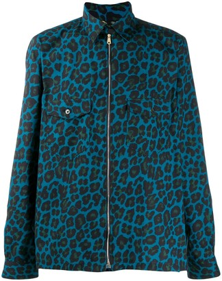 Paul Smith Leopard-Print Zipped Shirt Jacket