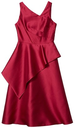 Adrianna Papell Mikado Midi Dress (Red Plum) Women's Dress