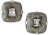 Stephen Dweck Petrified Palmwood & Rock Crystal Earrings