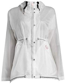 Hunter Women's Translucent Long-Sleeve Waterproof Jacket