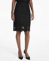 White House Black Market Floral Lace Pencil Skirt