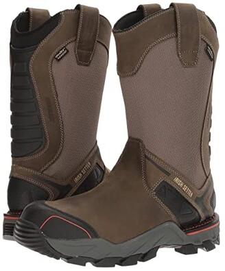 Irish Setter Crosby 11 Pull-On Waterproof (Grey/Black) Men's Work Boots
