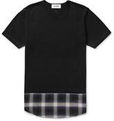 Aloye - Panelled Checked Cotton-Jersey T-Shirt