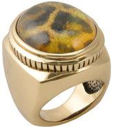 Barse Women's Bronze & Quartz Doublet Leopard Ring SAHAR01BLP