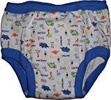 Baby Pants Adult - Almost a Big Kid Training Pants - Medium Blue Dinosaur