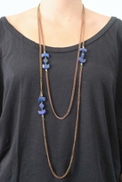 Vanessa Mooney Mesa Double Wrap Necklace in Blue Lapis