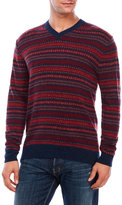 Alex Cannon V-Neck Fair Isle Wool-Blend Sweater