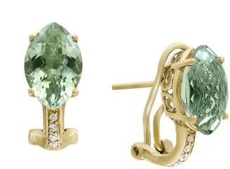 Effy Fine Jewelry 14K 5.93 Ct. Tw. Diamond & Green Amethyst Earrings