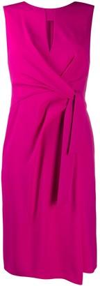 Paule Ka Side Tie Slit Detail Dress