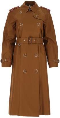 Burberry Double-Breasted Gabardine Trench Coat