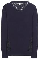 Diane von Furstenberg Anaya Merino Wool And Lace Sweater
