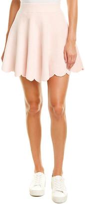 Ronny Kobo Vidette Scalloped Mini Skirt