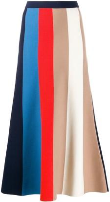 Victoria Victoria Beckham Block Stripe Knit Skirt