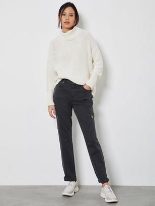 Mint Velvet Houston Utility Slim Jean-Grey
