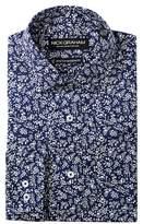 Nick Graham Stretch Modern Fit Floral Printed Dress Shirt