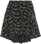 Mes Demoiselles Frikette Printed Silk Mini Skirt - Black