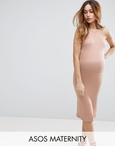 Asos Column Dress With Cross Back
