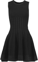 Line Kai glittered stretch-jacquard mini dress