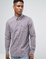 Jack Wills Shirt In Regular Fit In Flannel Check Red/Gray