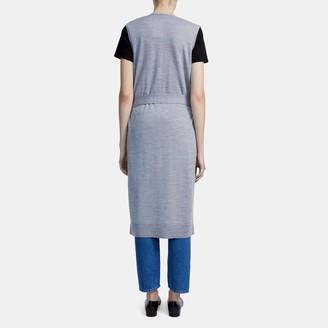 Theory Sleeveless Maxi Cardigan in Merino Wool