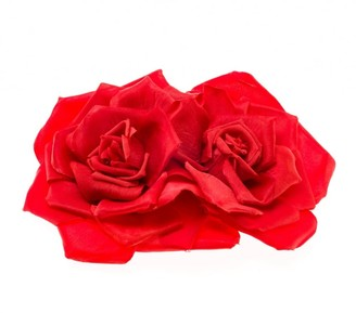 Johnny Loves Rosie Women Hair Clip Serena Red Double Rose