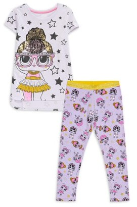 L.O.L Surprise! L.O.L. Surprise! Girls 4-18 Exclusive Flip Sequin Graphic Tee and Printed Legging, 2-Piece Outfit Set