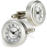 Link Up Silver Working Watch Cuff Links Casual Male XL Big & Tall