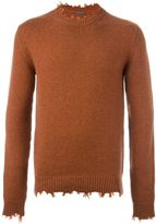 Etro cashmere distressed edge jumper