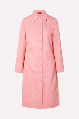 STAUD Maura Shell Trench Coat - Pink