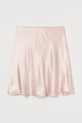 H&M Short satin skirt