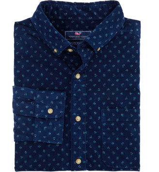 Vineyard Vines Classic Fit Cones and Berries Corduroy Murray Button-Down Shirt