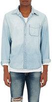 NSF Men's Faded Cotton Chambray Shirt-LIGHT BLUE