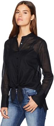 Kenneth Cole Women's Mandarin Collar Blouse