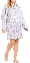 Lauren Ralph Lauren Plus His Shirt Paisley Sateen Sleepshirt
