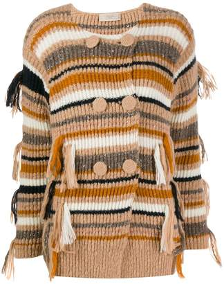 Maison Flaneur double breasted striped cardigan