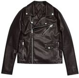Burton Mens Black Asymmetric Biker Jacket