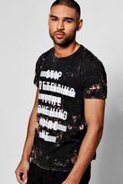 boohoo Marble Wash Printed T Shirt black