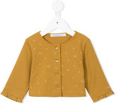 Familiar polka dot and bow embroidered cardigan - kids - Cotton - 6 mth