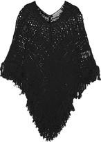 Emilio Pucci Fringed open-knit cotton coverup
