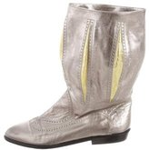 Charles Jourdan Metallic Mid-Calf Boots