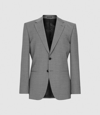 Reiss Pray - Slim Fit Travel Blazer in Grey