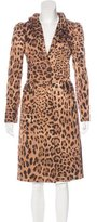Dolce & Gabbana Leopard Print Long Coat