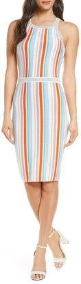 Ali & Jay Shades On Stripe Body-Con Sweater Dress