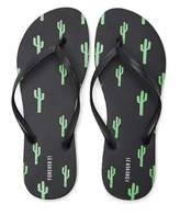 Forever 21 Cactus Print Flip Flops