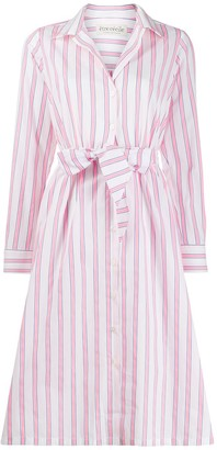 Être Cécile Lauren striped shirt dress