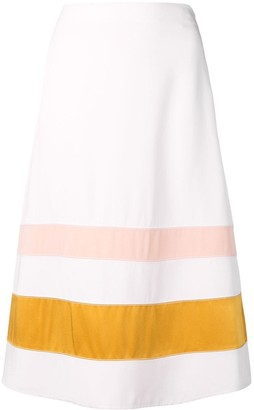 Marni striped A-line skirt