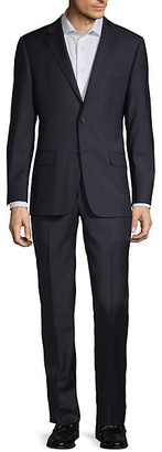 Hickey Freeman Classic Fit Tonal Check Wool Suit